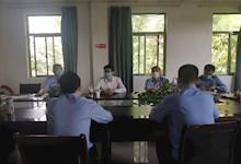陈震副校长在保卫处调研并指导工作